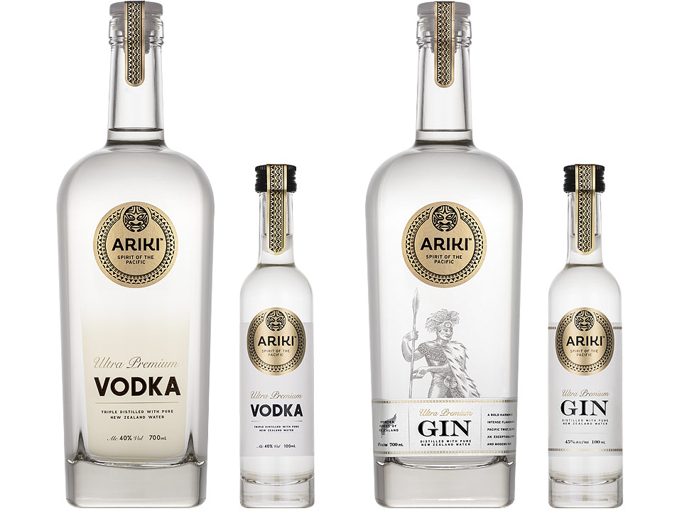 Product images for luxury spirits producer