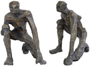 Bronze figure, multiple views