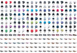 Hundreds of Helmets, Goggles and Eyewear samples photographed over 8 years for the same company